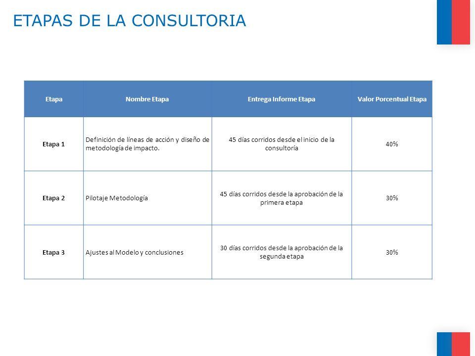 ETAPAS DE LA CONSULTORIA