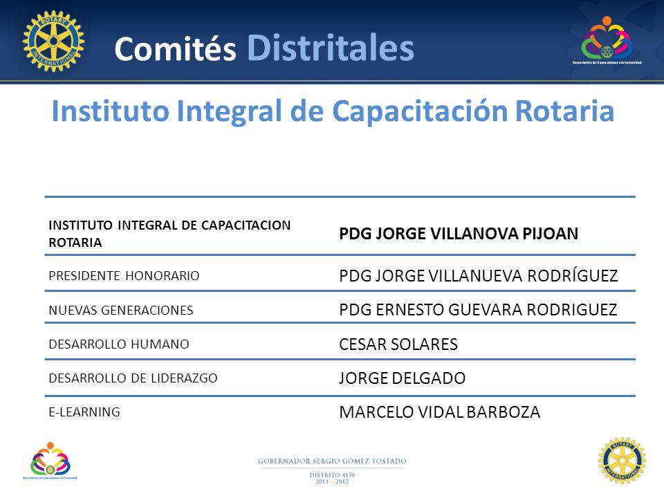 Comités Distritales Instituto Integral de Capacitación Rotaria