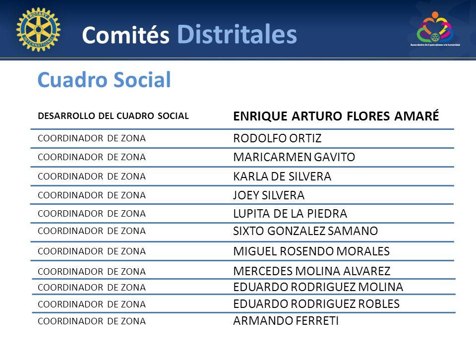 Comités Distritales Cuadro Social ENRIQUE ARTURO FLORES AMARÉ