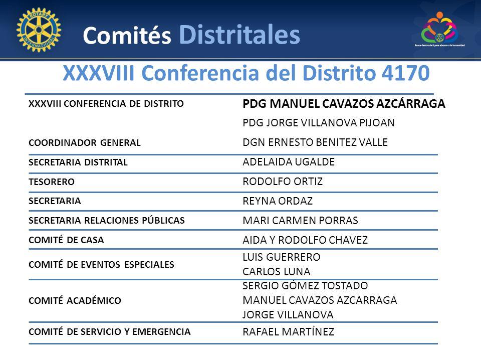 XXXVIII Conferencia del Distrito 4170