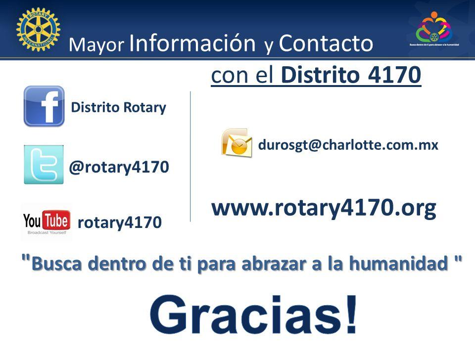 Gracias! www.rotary4170.org con el Distrito 4170