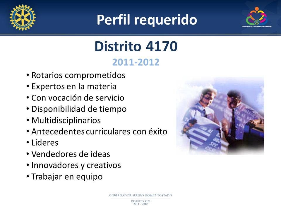 Perfil requerido Distrito 4170