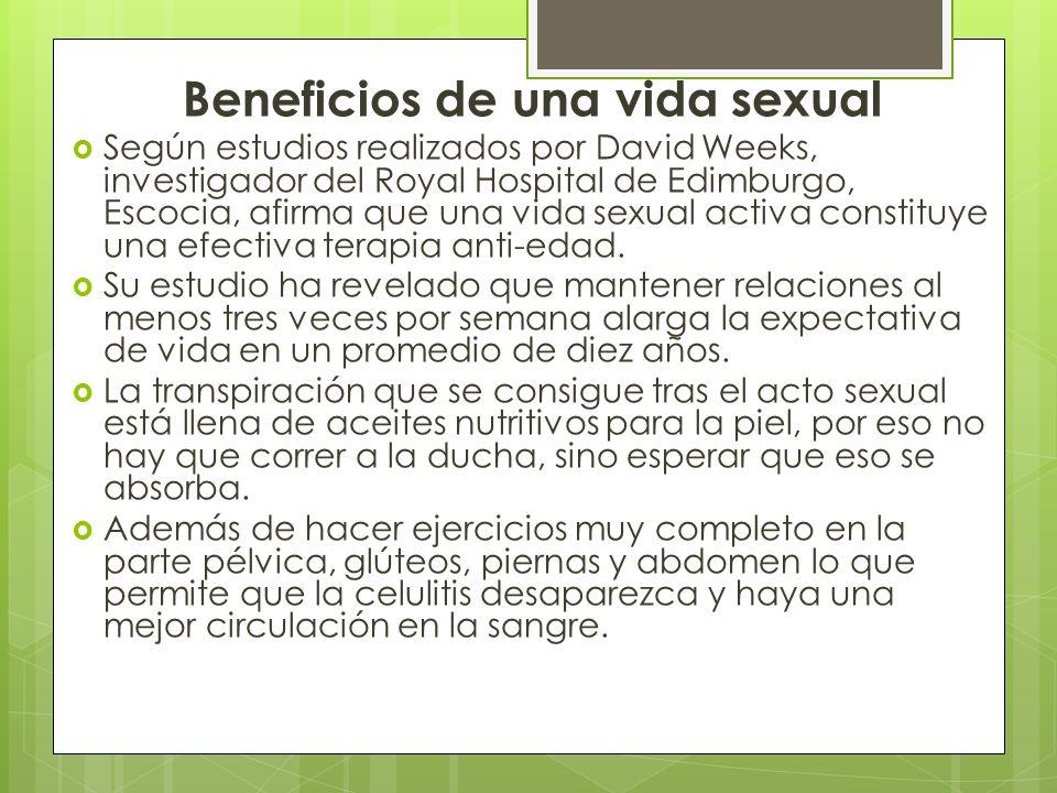 Beneficios de una vida sexual