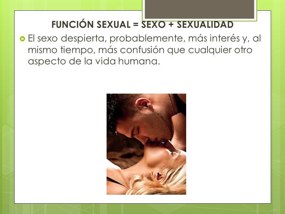 FUNCIÓN SEXUAL = SEXO + SEXUALIDAD