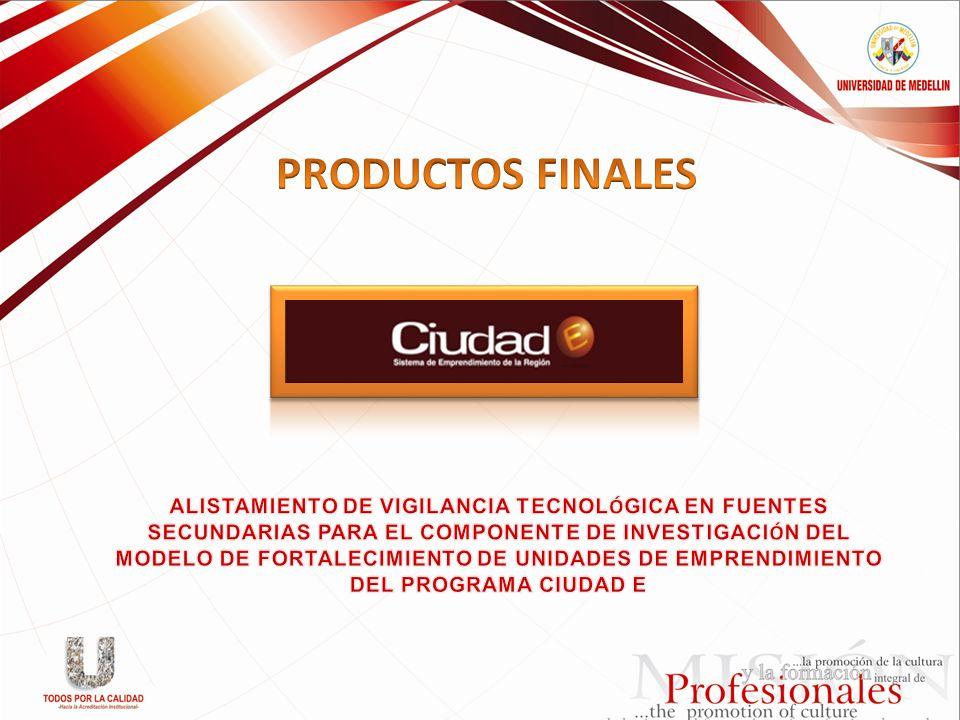 PRODUCTOS FINALES