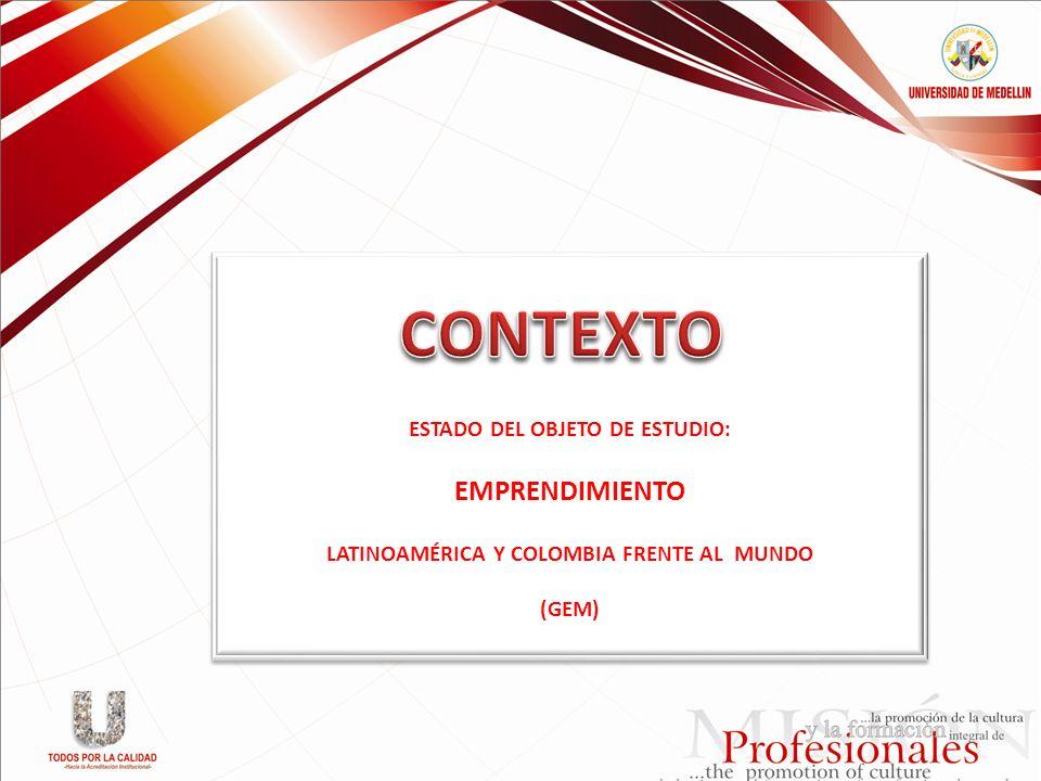 ESTADO DEL OBJETO DE ESTUDIO: LATINOAMÉRICA Y COLOMBIA FRENTE AL MUNDO