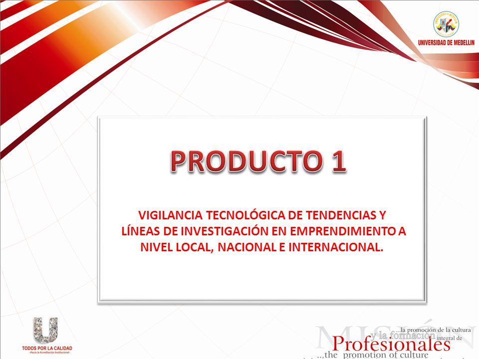 PRODUCTO 1 VIGILANCIA TECNOLÓGICA DE TENDENCIAS Y