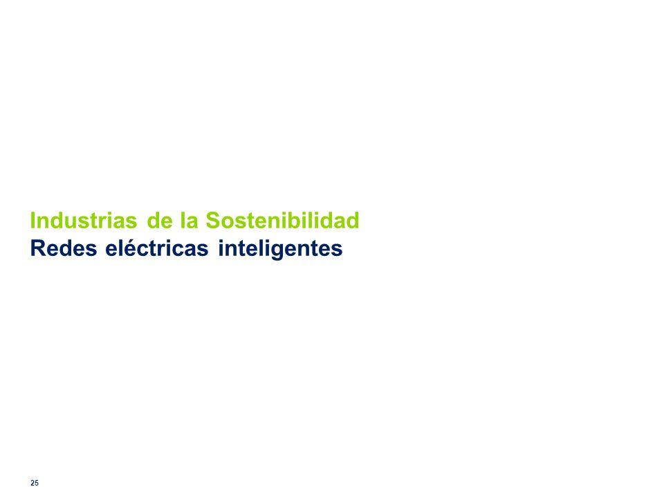 Industrias de la Sostenibilidad Redes eléctricas inteligentes
