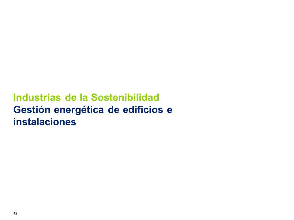 Industrias de la Sostenibilidad Gestión energética de edificios e instalaciones