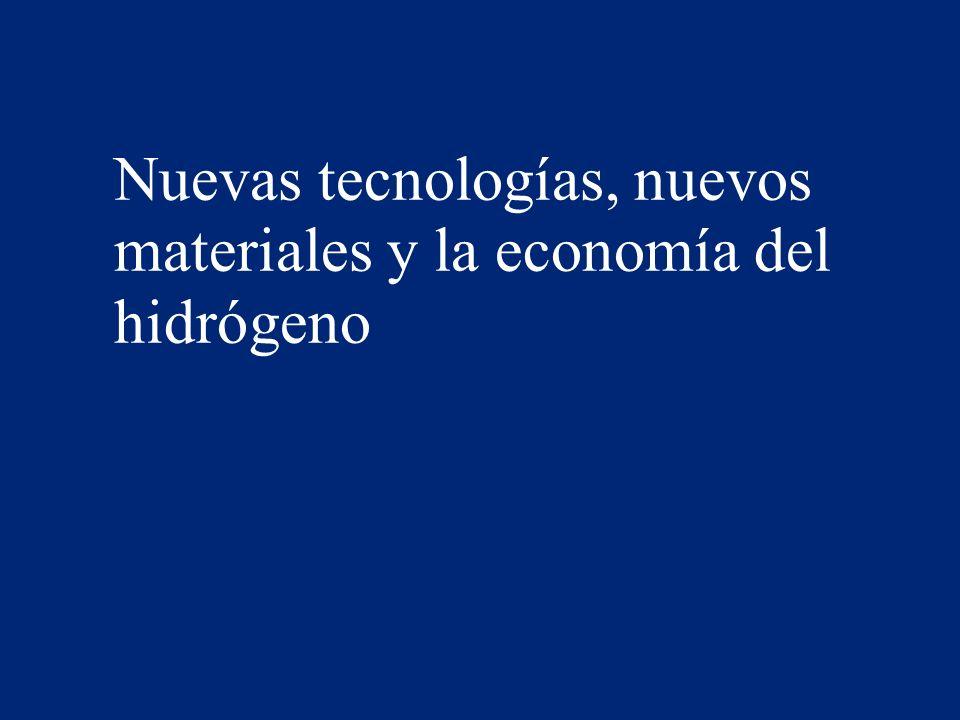 Nuevas tecnologías, nuevos materiales y la economía del hidrógeno