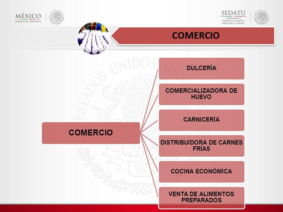 COMERCIO COMERCIO DULCERÍA COMERCIALIZADORA DE HUEVO CARNICERÍA