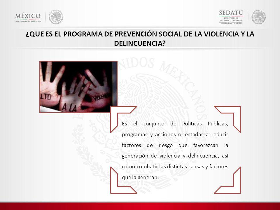 ¿QUE ES EL PROGRAMA DE PREVENCIÓN SOCIAL DE LA VIOLENCIA Y LA DELINCUENCIA