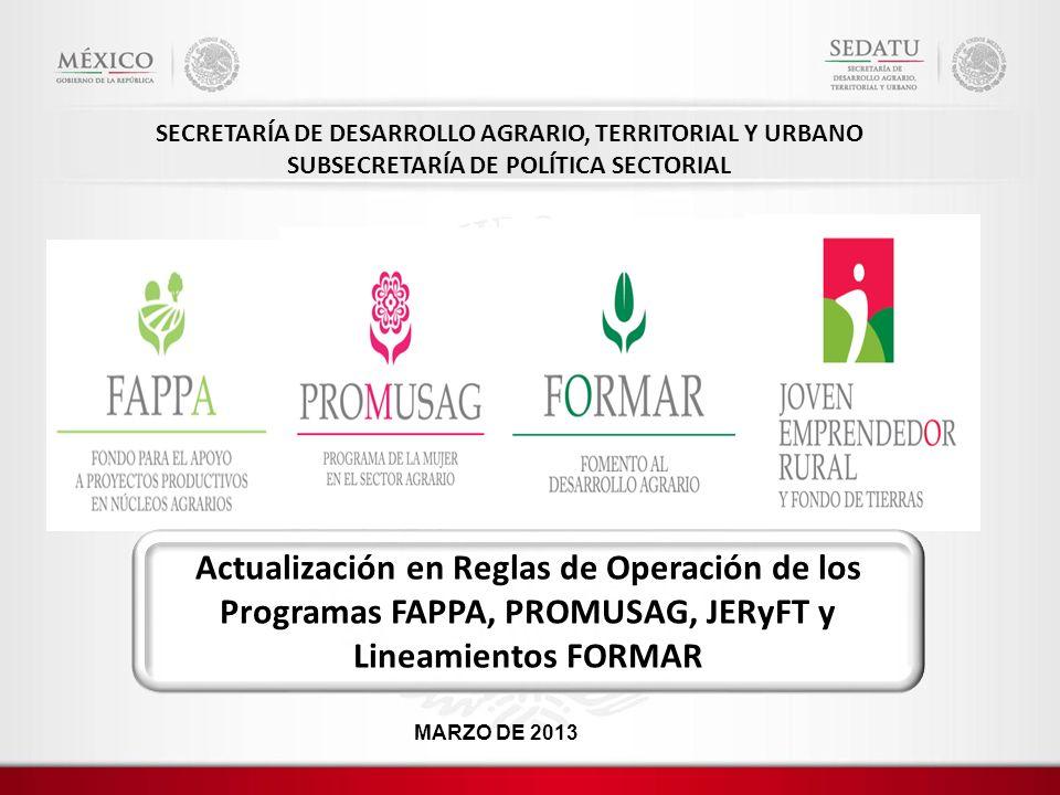 SECRETARÍA DE DESARROLLO AGRARIO, TERRITORIAL Y URBANO