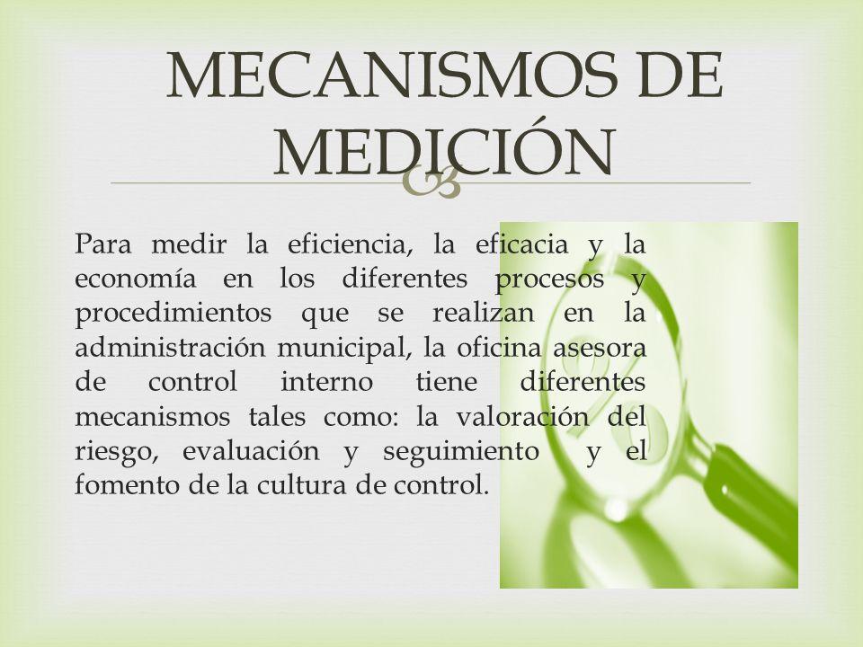 MECANISMOS DE MEDICIÓN