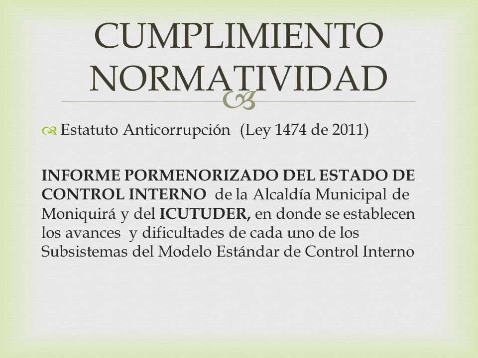 CUMPLIMIENTO NORMATIVIDAD