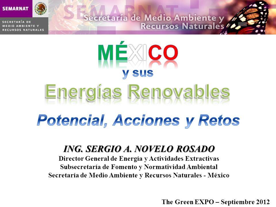 MÉXICO Energías Renovables Potencial, Acciones y Retos y sus