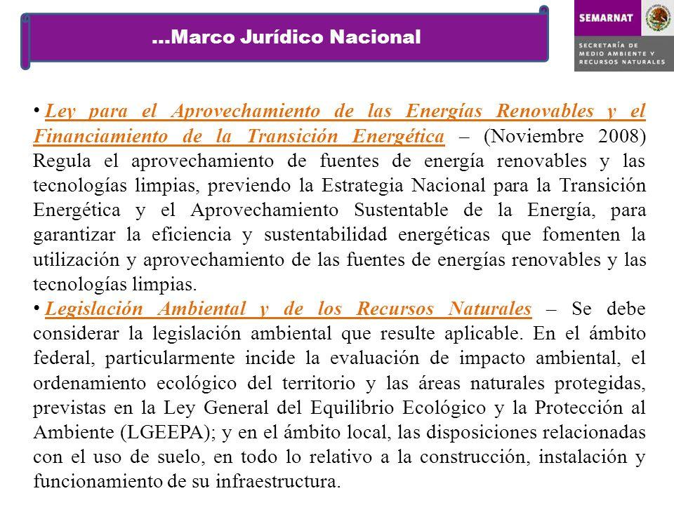 …Marco Jurídico Nacional