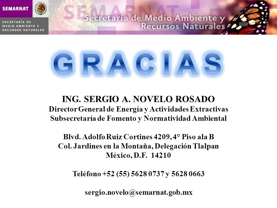 G R A C I A S ING. SERGIO A. NOVELO ROSADO