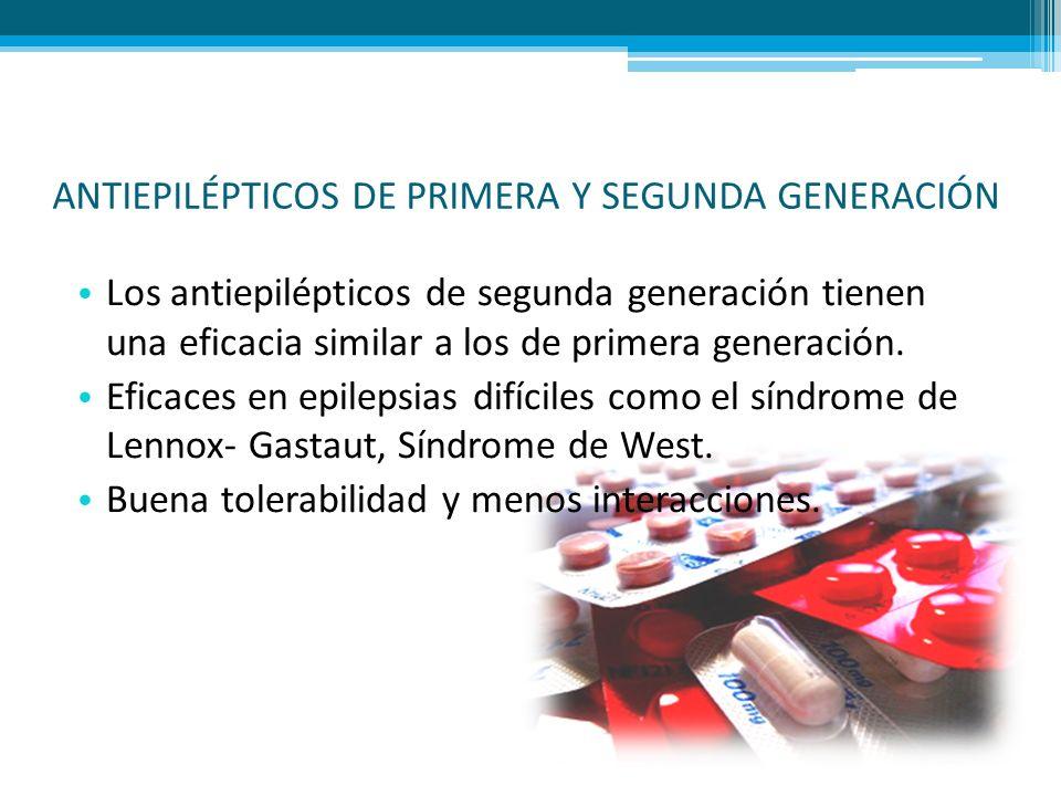 ANTIEPILÉPTICOS DE PRIMERA Y SEGUNDA GENERACIÓN