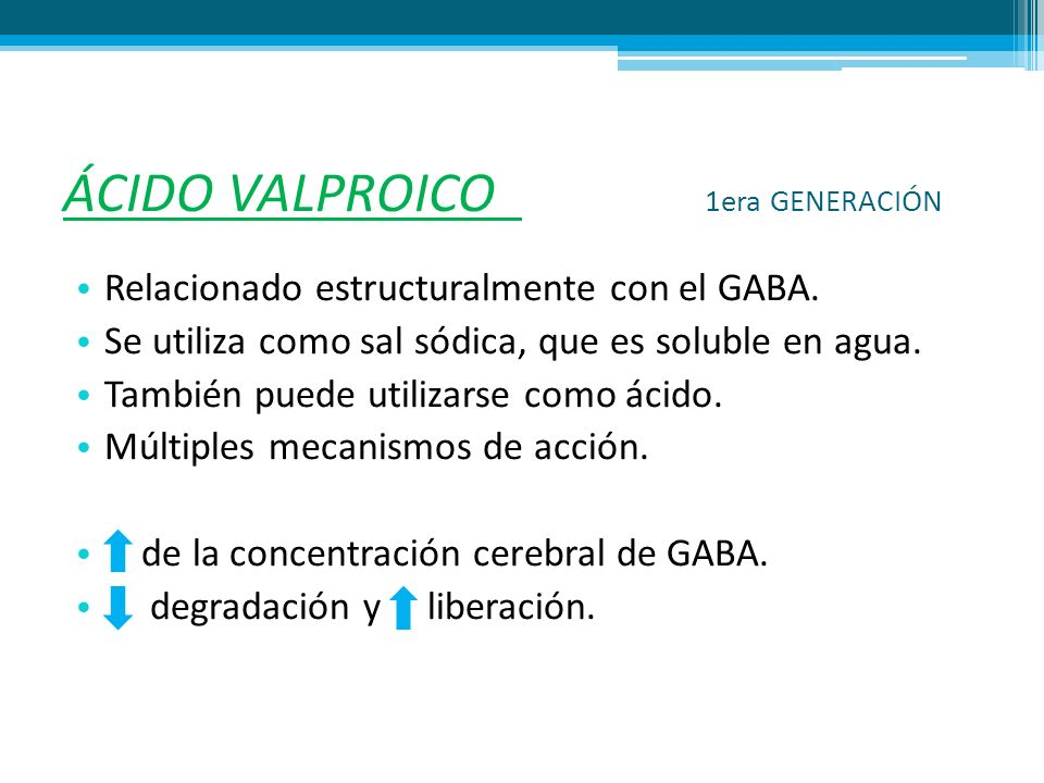 ÁCIDO VALPROICO 1era GENERACIÓN