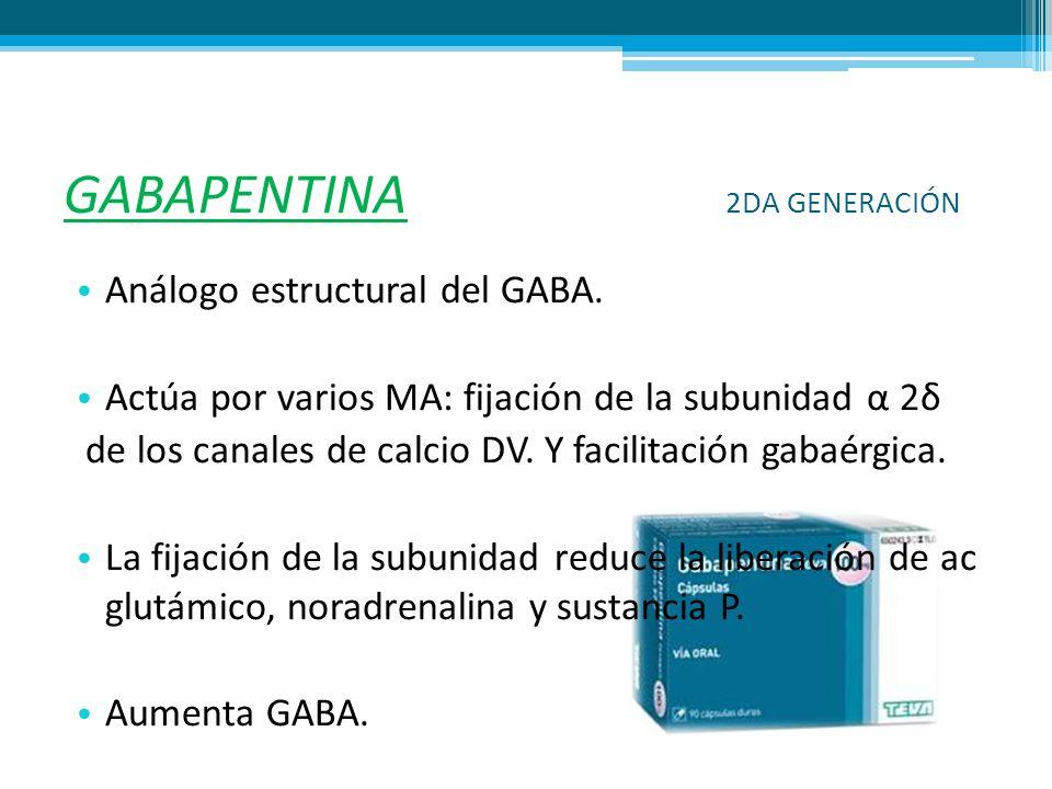 GABAPENTINA 2DA GENERACIÓN