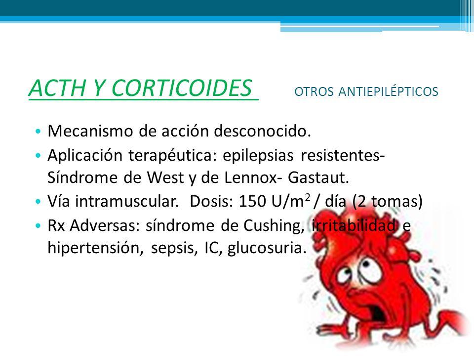 ACTH Y CORTICOIDES OTROS ANTIEPILÉPTICOS