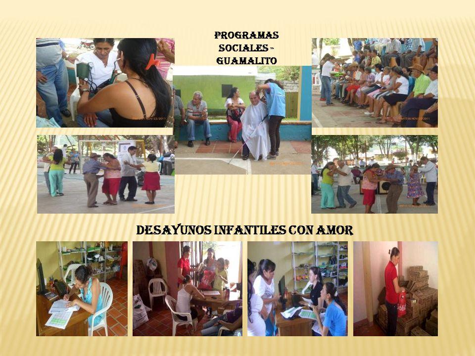 PROGRAMAS SOCIALES - GUAMALITO DESAYUNOS INFANTILES CON AMOR