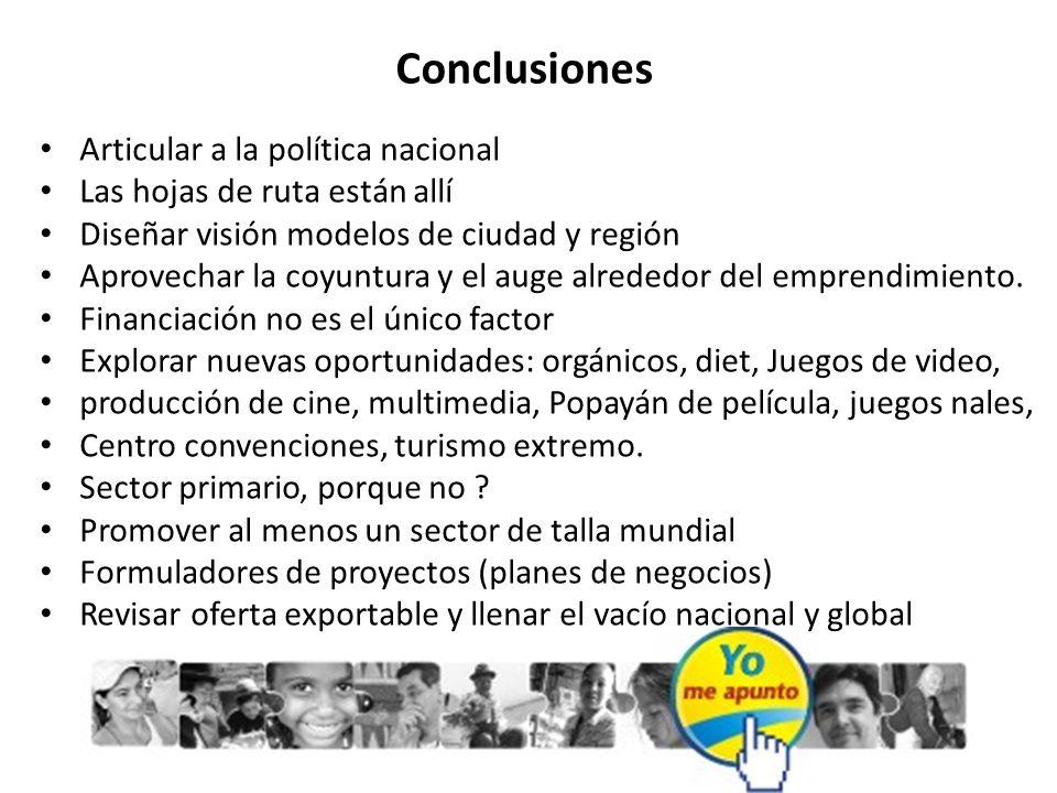 Conclusiones Articular a la política nacional