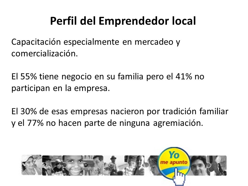 Perfil del Emprendedor local