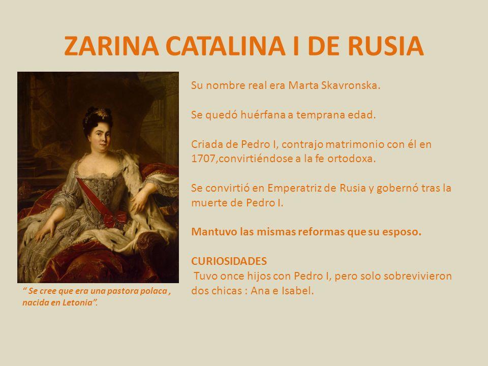 ZARINA CATALINA I DE RUSIA