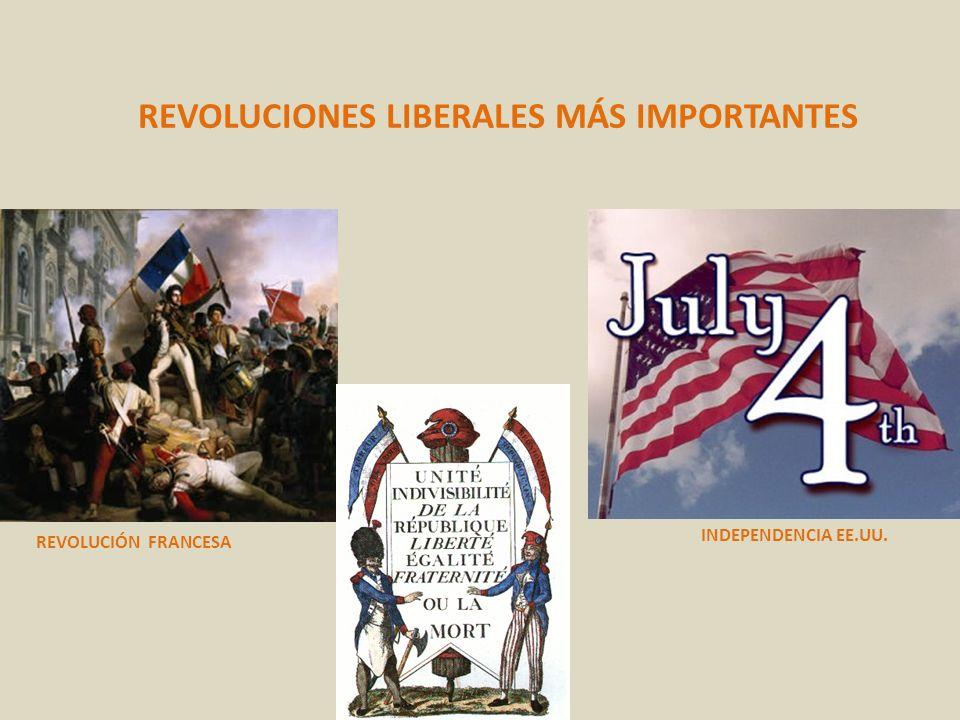 REVOLUCIONES LIBERALES MÁS IMPORTANTES