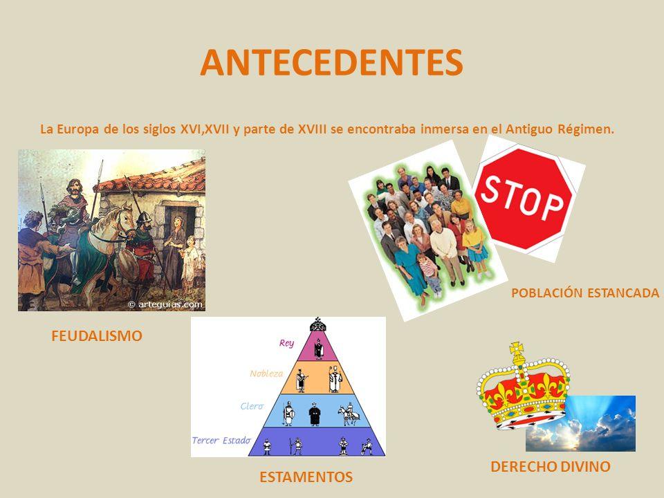 ANTECEDENTES FEUDALISMO DERECHO DIVINO ESTAMENTOS