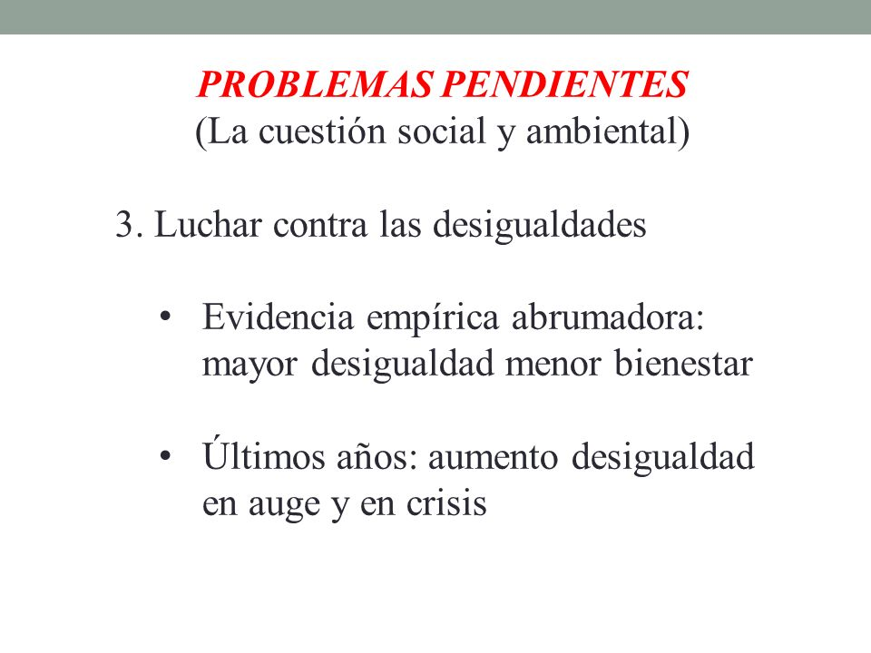 (La cuestión social y ambiental)