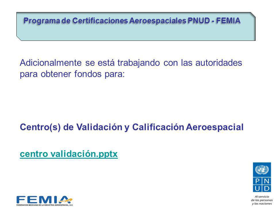 Centro(s) de Validación y Calificación Aeroespacial