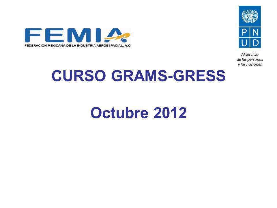 CURSO GRAMS-GRESS Octubre 2012