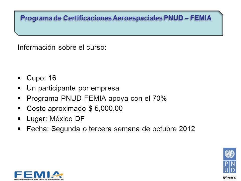 Información sobre el curso: