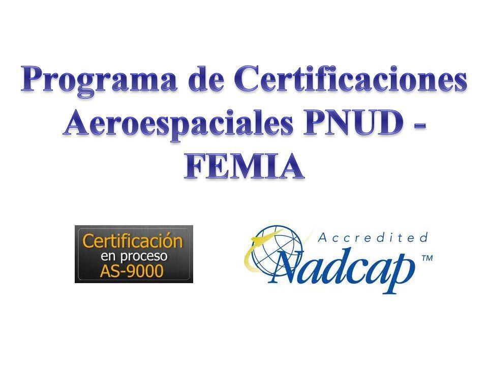 Programa de Certificaciones Aeroespaciales PNUD - FEMIA