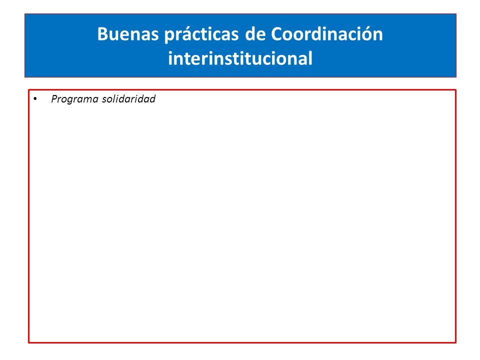 Buenas prácticas de Coordinación interinstitucional