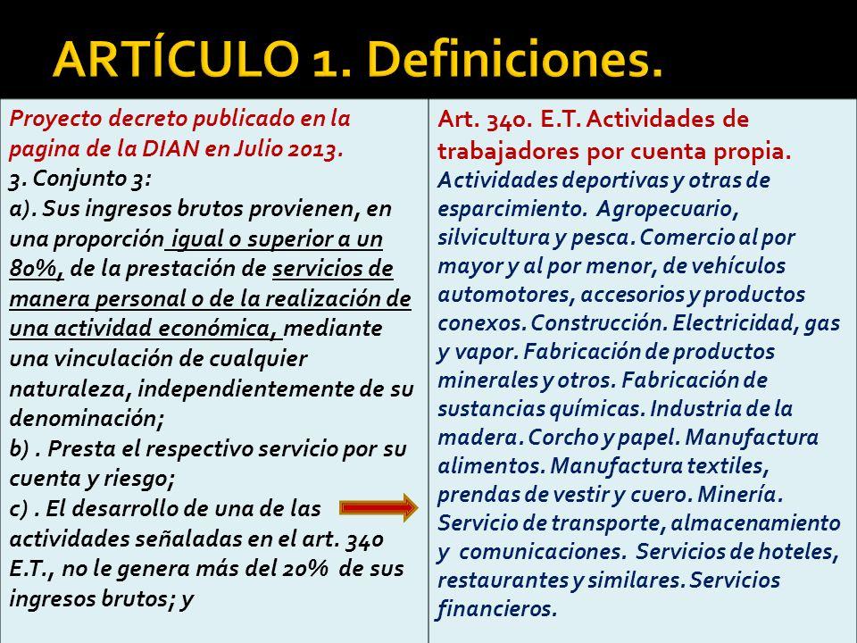 ARTÍCULO 1. Definiciones.