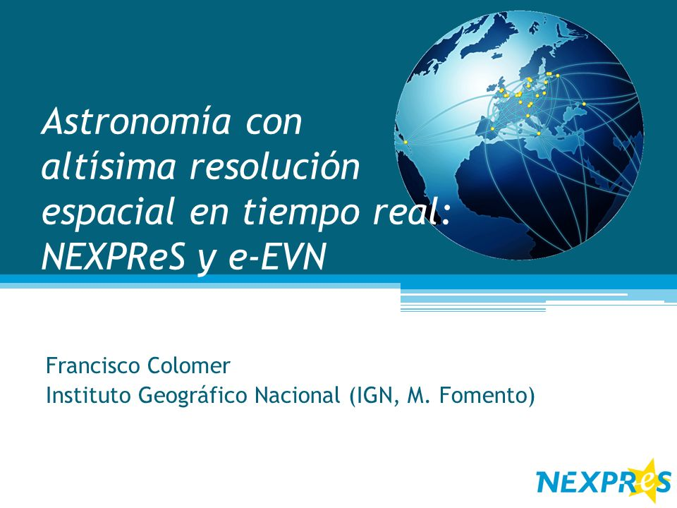 Francisco Colomer Instituto Geográfico Nacional (IGN, M. Fomento)