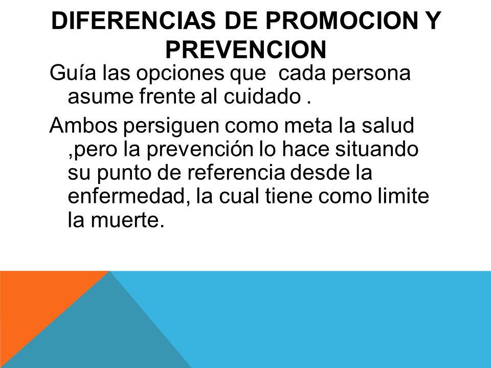 Diferencias de promocion y prevencion