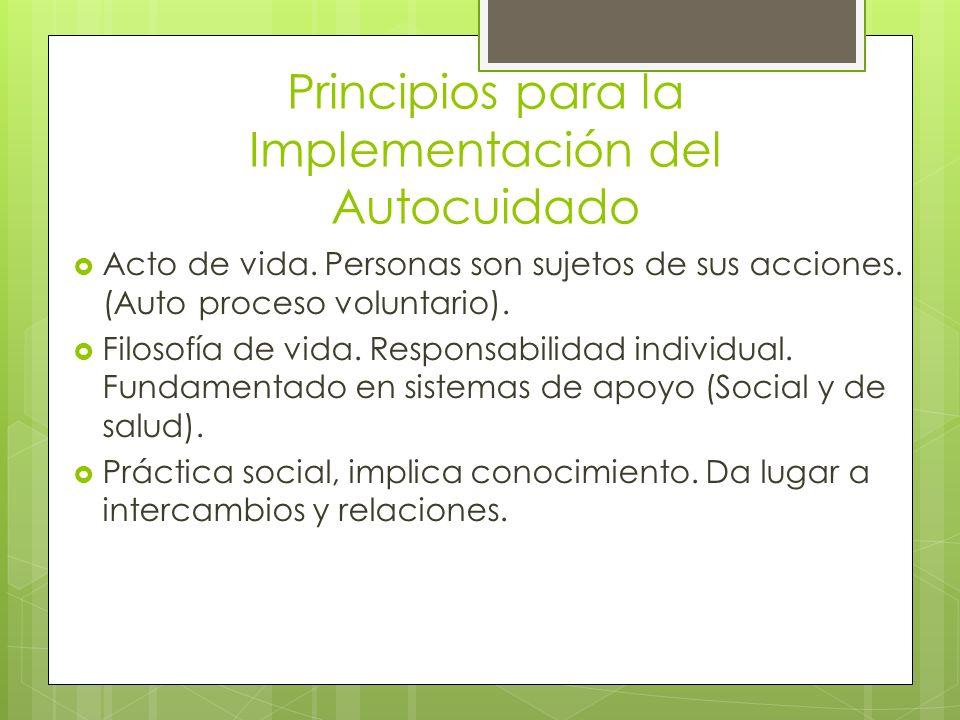 Principios para la Implementación del Autocuidado