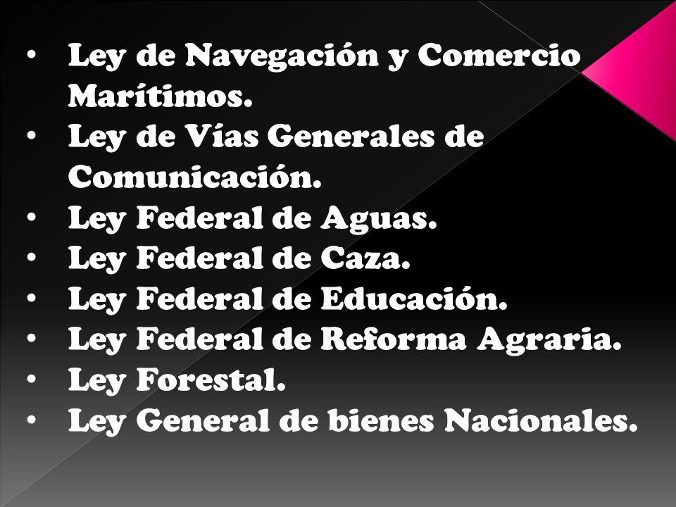 Ley de Navegación y Comercio Marítimos.