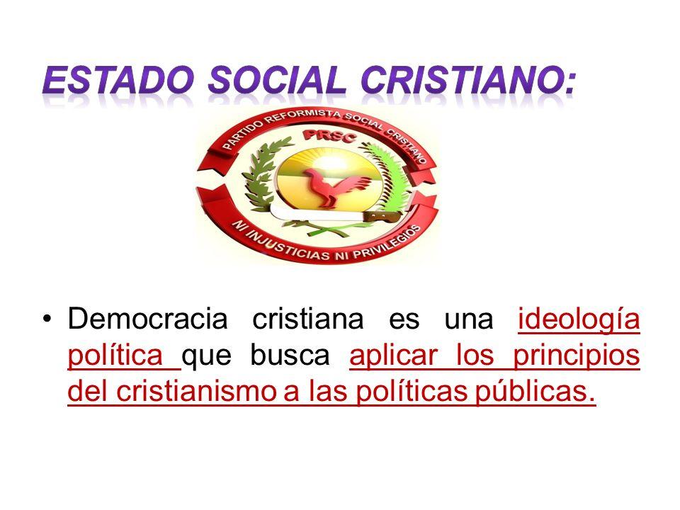 ESTADO SOCIAL CRISTIANO: