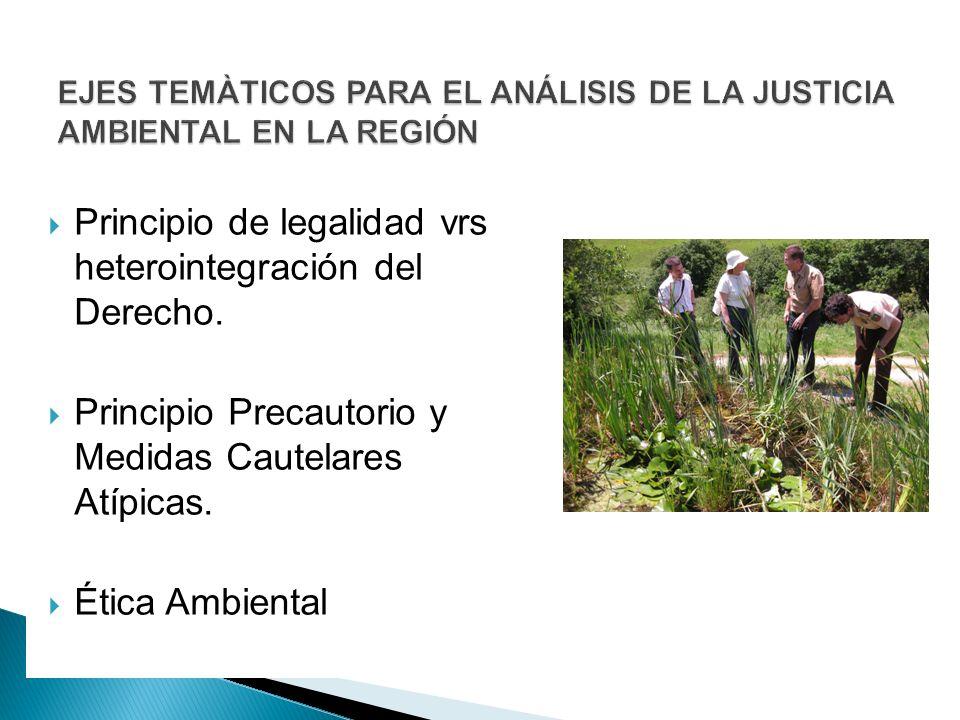 EJES TEMÀTICOS PARA EL ANÁLISIS DE LA JUSTICIA AMBIENTAL EN LA REGIÓN