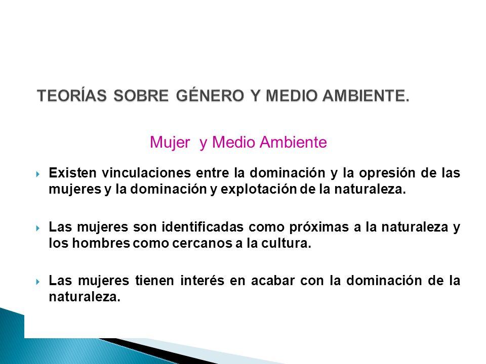TEORÍAS SOBRE GÉNERO Y MEDIO AMBIENTE.
