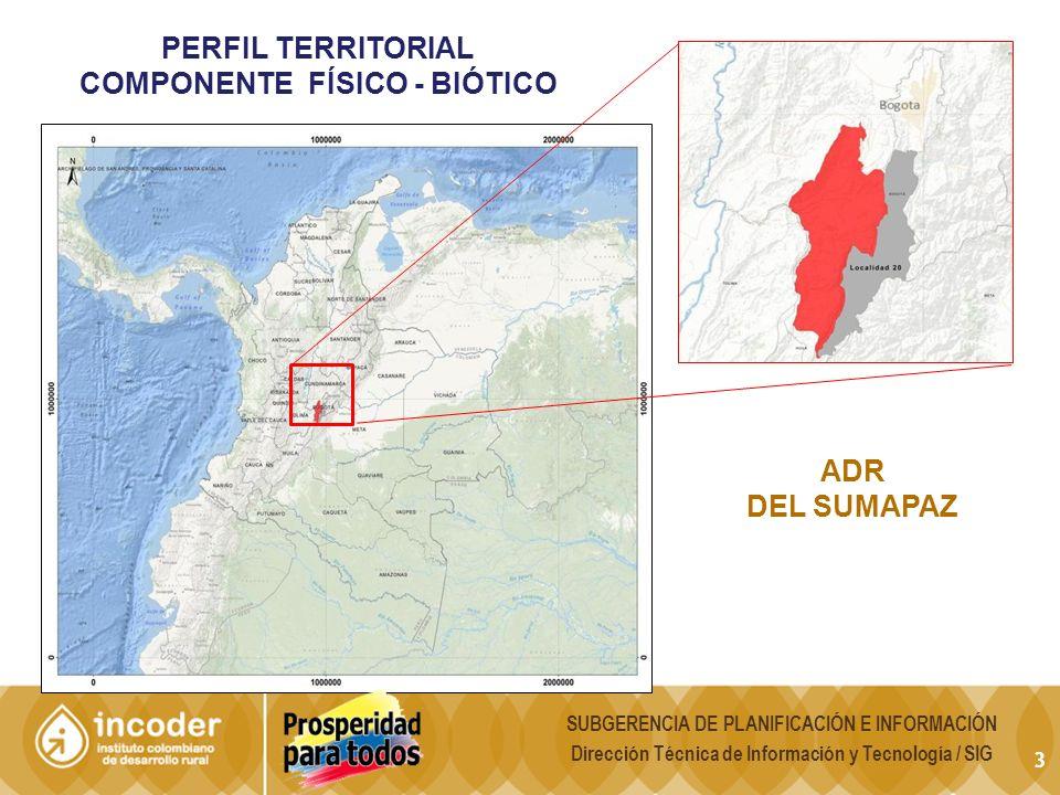 Perfil territorial COMPONENTE FÍSICO - biótico ADr Del SUMAPAZ