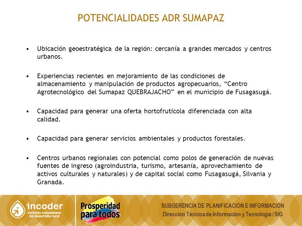 POTENCIALIDADES ADR SUMAPAZ