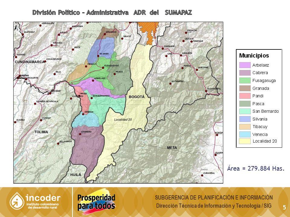División Político – Administrativa ADR del SUMAPAZ