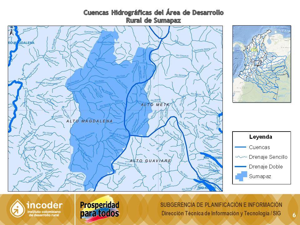 Cuencas Hidrográficas del Área de Desarrollo Rural de Sumapaz
